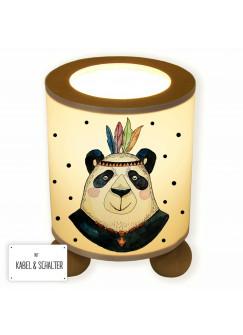 Tischlampe Panda Papa Indianer Boho mit Punkten tl049