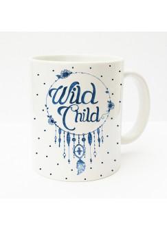 Tasse Wild Child mit Blumen und Punkten ts151
