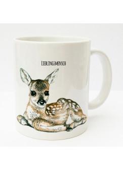 Tasse Reh Rehkitz Bambi mit Spruch Lieblingsmensch ts175