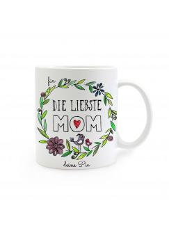 Tasse Muttertag Liebste Mom mit Namen ts264