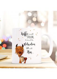 Tasse mit Lama Becher Kaffeebecher Kaffeetasse mit Spruch Kaffee erreicht stellen.. ts491