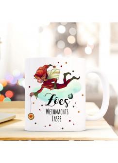 Tasse Becher Wichtel Elfe Spruchbecher Geschenk Motto Zitat Weihnachtstasse Name Wunschname ts566