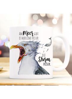 Tasse Becher Kaffeetasse Möwe Vogel Spruch Die Sturmfrisur Kaffeebecher Geschenk Spruchbecher ts979