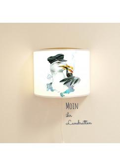 Wandlampe Wandleuchte Leseschlummer-Lampe Möwe mit Wanddeko Ls06