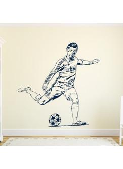 Wandtattoo Wandaufkleber Fußball Fußballspieler Stürmer Ronaldo Bundesliga M1628