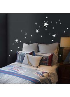 Wandtattoo Sternenzauber Stern Set 30 Stück M506