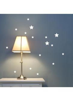 Wandtattoo Wandsticker Stern Sterne Sternenhimmel Nachthimmel Set 31 Teile M1672