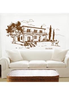 Wandtattoo Toscana Toskana Landhaus Italien M1605