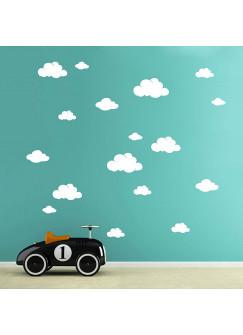 Wandtattoo Wolken Wolke Wölkchen 19 Stück M1756