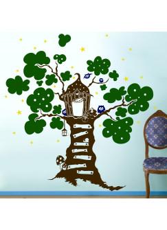 Wandtattoo Wandaufkleber Eulen Eule Baum Sterne M670