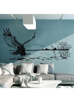 Wandtattoo Seeadler Fischadler in maritimer Landschaft M1464