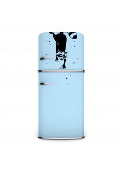 Wandtattoo Kühlschrankaufkleber Waschbär mit Punkten M1960