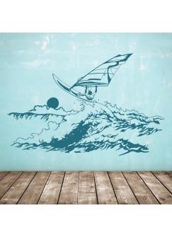 Wandtattoo Windsurfer Surfer Meer See Wind M1728