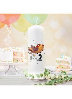 Geburtstagskerze Kerze zum Geburtstag Flugzeug Wunschname Alter wk144 + wahlweise passendes Teelichthüllen-Set te144