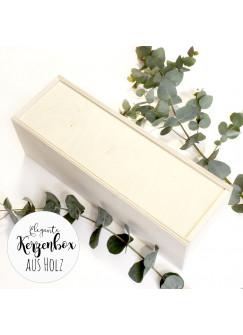 Edele schöne Holzbox Holzkiste Kiste Aufbewahrungbox Geschenkbox passend für Taufkerzen Stumpenkerzen hbt