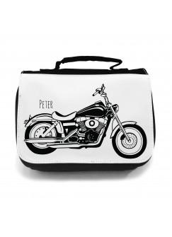 Waschtasche Motorrad Bike Shopper mit Wunschname wt016