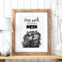 A3 Print Illustration Poster Plakat Katzenplakat Katzenposter Katze mit Spruch lass mich kurz überlegen... nein A3 print illustration poster placard cat with quote saying let me think for a moment... No p59