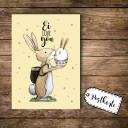A6 Postkarte Ansichtskarte Osterkarte Flyer Ostern Häschen Hase Osterhase mit Spruch Ei love you A6 postcard print easter card bunny rabbit with quote ei love you pk100_H.jpg