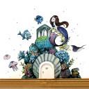 e18 Wichteltür Elfentür Unterwasserwelt Meerjungfrau H