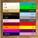 Farbtabelle Holzschriftzug