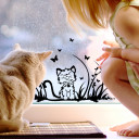 Fenstersticker Katze