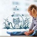 Fensterbild Katze