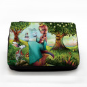 Gefüllte Federtasche Prinzessin im Zauberwald mit Wunschnamen fm038 Filled pencil case princess in magic forest with desired name fm038