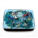 Gefüllte Federtasche Astronaut im Weltraum mit Wunschnamen filled pencil case astronaut in outer space with custom name fm061