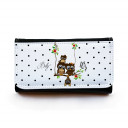 Portemonnaie große Geldbörse Brieftasche Eulchen auf Schaukel mit Punkten und Wunschnamen gbg020 Wallet big purse billfold little owls on swing with dots and desirable name gbg020