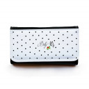 Portemonnaie große Geldbörse Brieftasche mit Punkten Schmetterling und Wunschnamen gbg021 Wallet big purse billfold with dots butterfly and desirable name gbg021