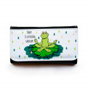 Portemonnaie große Geldbörse Brieftasche Yogafrosch mit Spruch today is a .... gbg022 Wallet big purse billfold frog with saying today is a .... gbg022