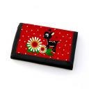 Portemonnaie Geldbörse Brieftasche Rehlein mit Blumen Schmetterlingen und Punkten gf23 Wallet purse billfold Little deer with flowers butterflies and points gf23
