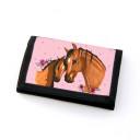 Portemonnaie Geldbörse Brieftasche Pferd mit Fohlen Punkten und Blumen wallet purse billfold horse with foal dots and flowers gf45