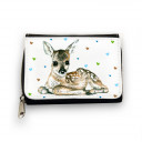 Geldbörse süßes Reh Rehkitz mit Herzen gk068 Wallet sweet deer fawn with colored hearts gk068
