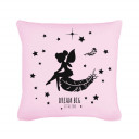 "Kissen mit Elfe Fee Federn Sternen und Spruch ""dream big - little one"" inklusive Füllung Pillow with elf fairy feathers stars and saying ""dream big - little one"" including filling k09"