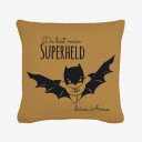 "Kissen mit Superheld und Spruch du bist mein Superheld inklusive Füllung Pillow with superhero and saying ""you are my superhero"" including filling"