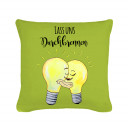 Kissen Dekokissen Glühbirnen verliebt mit Spruch Lass uns durchbrennen inklusive Füllung Pillow throw pillow light bulbs in love with quote saying Let us burn through inclusive filling k40_2.jpg