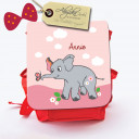 Hauptbild Rucksack Kinderrucksack Kindergartentasche Kindertasche Tasche Baby Elefant mit Schmetterling und Wunschnamen kids backpack kindergarden bag child bag baby elephant with butterfly and desired name kgn009
