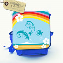 "Hauptbild Rucksack Kinderrucksack Kindergartentasche Kindertasche Tasche ""Over the rainbow"" Fische im Wasser mit Regenbogen und Wunschnamen kids backpack kindergarden bag child bag ""over the rainbow"" fish in the water with rainbow and desired name kgn018"