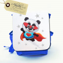Hauptbild Rucksack Kinderrucksack Kindergartentasche Kindertasche Tasche Superpanda mit Sternen und Wunschnamen kids backpack kindergarden bag child bag superpanda with stars and desired name kgn023