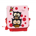 Hauptbild Rucksack Kinderrucksack Kindergartentasche Kindertasche Tasche Eulchen mit Schmetterling Punkten und Wunschnamen in rosa kids backpack kindergarden bag child bag owls with butterfly dots and desired name in rose kgn032