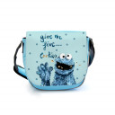 Kindergartentasche Kindertasche Tasche Cookiemonster mit Spruch und Punkten kindergarten bag children bag bag cookiemonster with saying and dots kgt12