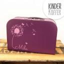 Kinderkoffer Koffer Pusteblume mit Schmetterlingen lila Children suitcase dandelion with butterflies purple kos5d