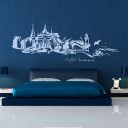 Wandtattoo Wandaufkleber Wandsticker Wandbild Aufkleber Sticker Panorama Skyline Rostock Warnemünde Hansestadt Hafen wall decal wall sticker wall mural wall tattoo panorama skyline Rostock Warnemünde harbour city port M1071
