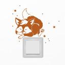 Sticker Aufkleber Fuchs