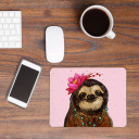 Mousepad Mouse Pad Mausunterlage Faultier mit Blume und Punkten Mousepad mouse pad sloth with flower and dots mp19_H.jpg