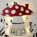 Holzlampe Motivlampe Pilzlampe Fliegenpilz mit Feen
