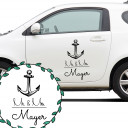 Autoaufkleber Autotattoo Hochzeit Trauung Vermählung Maritim Mr. & Mrs. mit Anker und Wunschnamen Car sticker car tattoo wedding mr. and mrs. with anchor and desired name M2140_H.jpg