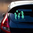 Autoaufkleber Mädchen