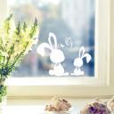 Fensterbild Hasen